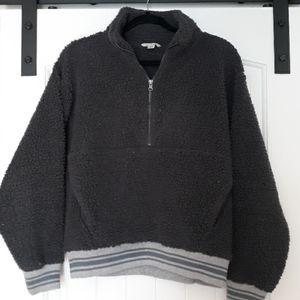 American Eagle sherpa half zip sweatshirt